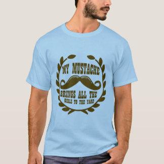 T-shirt Ma moustache amène toutes les filles à la cour