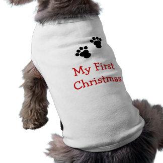 T-shirt Ma première chemise de chien de Noël