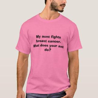 T-shirt Ma tante combat le cancer du sein.  Ce qui fait