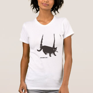 T-shirt macabre de ~ de chat
