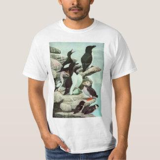T-shirt Macareux vintages, oiseau aquatique, animaux