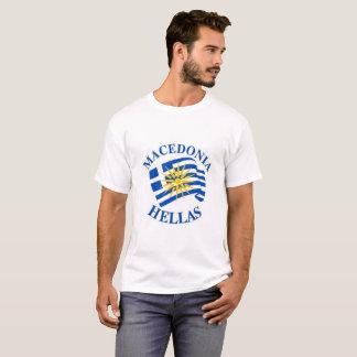 T-shirt Macedonia Greek drapeau tee-shirt