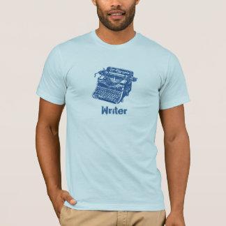 T-shirt Machine à écrire bleue vintage