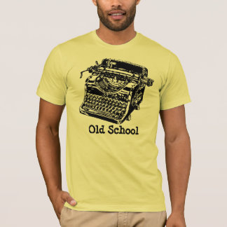 T-shirt Machine à écrire de vieille école