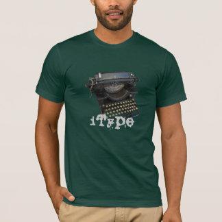 T-shirt machine à écrire d'iType (type d'I) drôle