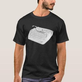 T-shirt Machine à écrire hébreue