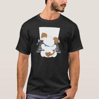 T-shirt Machine à écrire mignonne de chiot