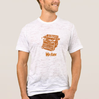 T-shirt Machine à écrire vintage de Brown