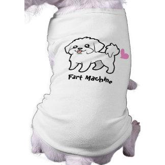 T-shirt Machine de pet (chiot maltais coupé)