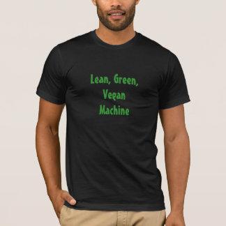 T-shirt Machine maigre, verte, végétalienne