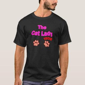 T-shirt Madame 1958 de chat