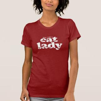 T-shirt Madame de chat