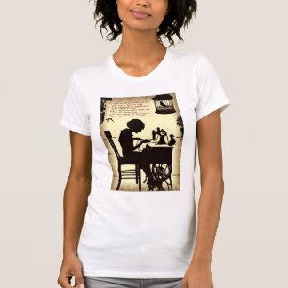 T-shirt Madame de couture chanteuse Vintage Fairy Poem