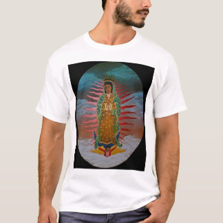 T-shirt Madame de Guadalupe (teinte bleue) avec la