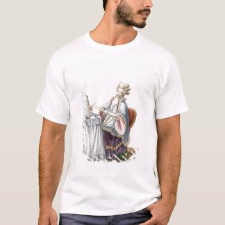T-shirt Madame élégante à sa coiffeuse, plat de 'GA