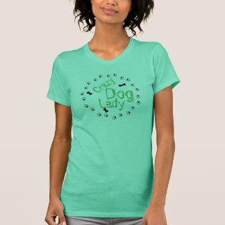T-shirt Madame folle de chien