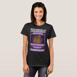 T-shirt Madame folle de chien d'Airedale Terrier d'amour