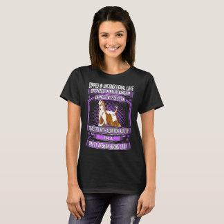 T-shirt Madame folle plongée de lévrier afghan d'amour