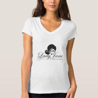 T-shirt Madame Jane Vintage V - dessus de cou
