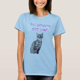 T-shirt Madame originale de chat