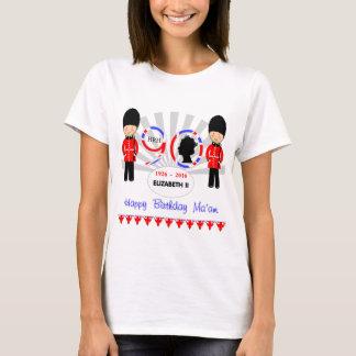 T-shirt Madame Queen Elizabeth II quatre-vingt-dixième de