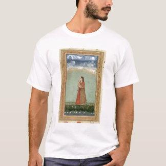 T-shirt Madame tenant une cuvette de roses, du petit Clive