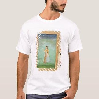 T-shirt Madame tenant une fleur, du petit album de Clive