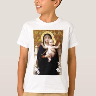 T-shirt Madona avec la peinture antique de Bouguereau de
