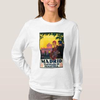 T-shirt Madrid en affiche promotionnelle de voyage de