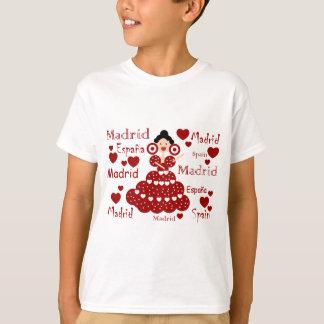 T-shirt Madrid Espagne poupée flamande