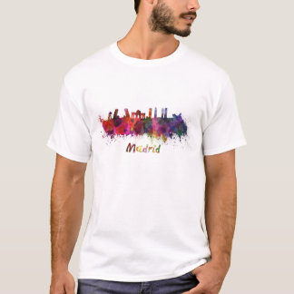 T-shirt Madrid skyline in watercolor