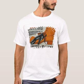 """T-shirt """"Magasins de chaussure"""", Zurich (litho de couleur)"""