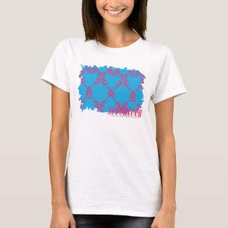 T-shirt Magenta-Aqua 4 de damassé