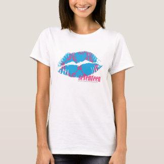 T-shirt Magenta-Aqua de damassé
