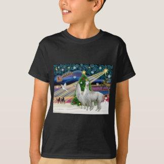 T-shirt Magie de Noël - 2 lamas