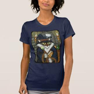 T-shirt magique de sorcier de chat de magicien de