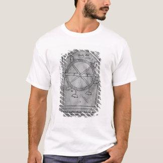 T-shirt Maillets et roue de mouvement censément perpétuel
