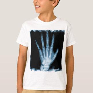 T-shirt Main bleue de squelette de rayon X