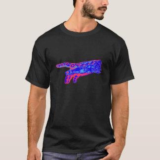 T-shirt Main de Dieu de cyborg (rouge et bleu)