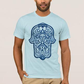 T-shirt Main de henné de Hamsa (bleu)