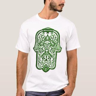 T-shirt Main de henné de Hamsa (vert)
