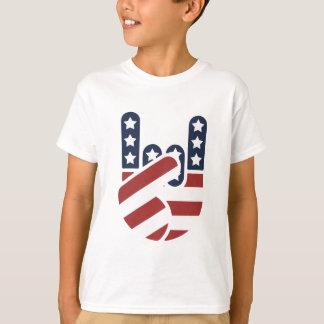 T-shirt Main Etats-Unis de roche