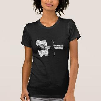 T-shirt Mains de guitare acoustique