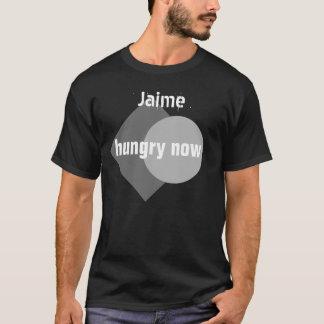 T-shirt MAINTENANT V46U AFFAMÉ nommé fait sur commande
