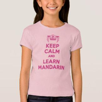 T-shirt Maintenez calme et apprenez la chemise de filles