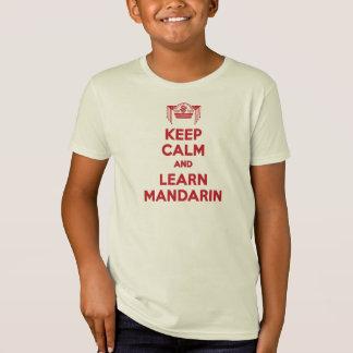 T-Shirt Maintenez calme et apprenez la chemise de garçons