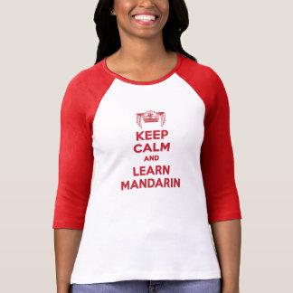 T-shirt Maintenez calme et apprenez la Long-Douille de