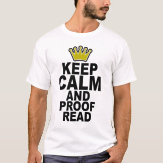 T-shirt Maintenez calme et corrigez sur épreuves Tee.png