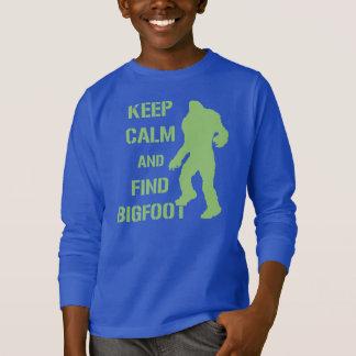 T-shirt Maintenez calme et découverte Bigfoot