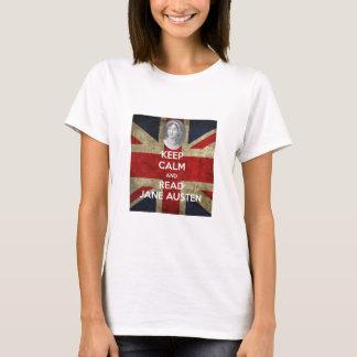 T-shirt Maintenez calme et lisez Jane Austen